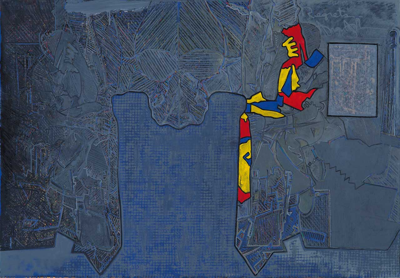 Jasper Johns, Regrets, 2013, Oil on canvas