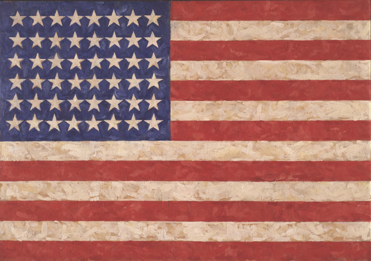 Jasper Johns, Flag, 1958, Encaustic on canvas, Private collection