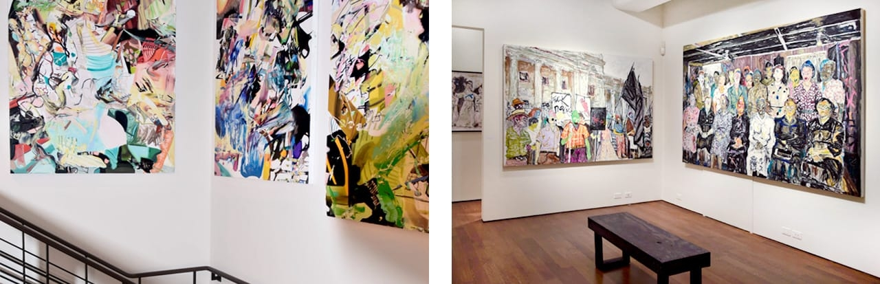 Top: Richard Prince, Raymond Pettibon, and Elizabeth Peyton amongst others. Bottom right: Farley Aguilar