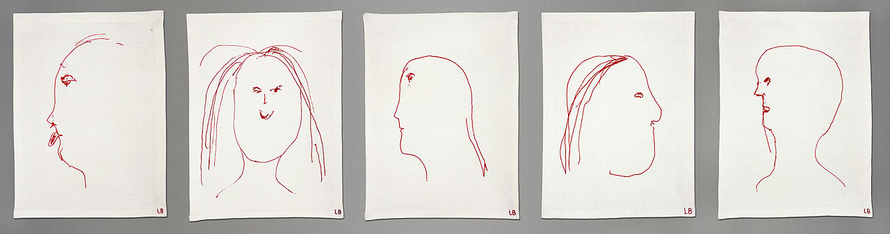 Louise Bourgeois, The Bad Girl, 2008, Suite of 5 screen-printed pigment prints on linen