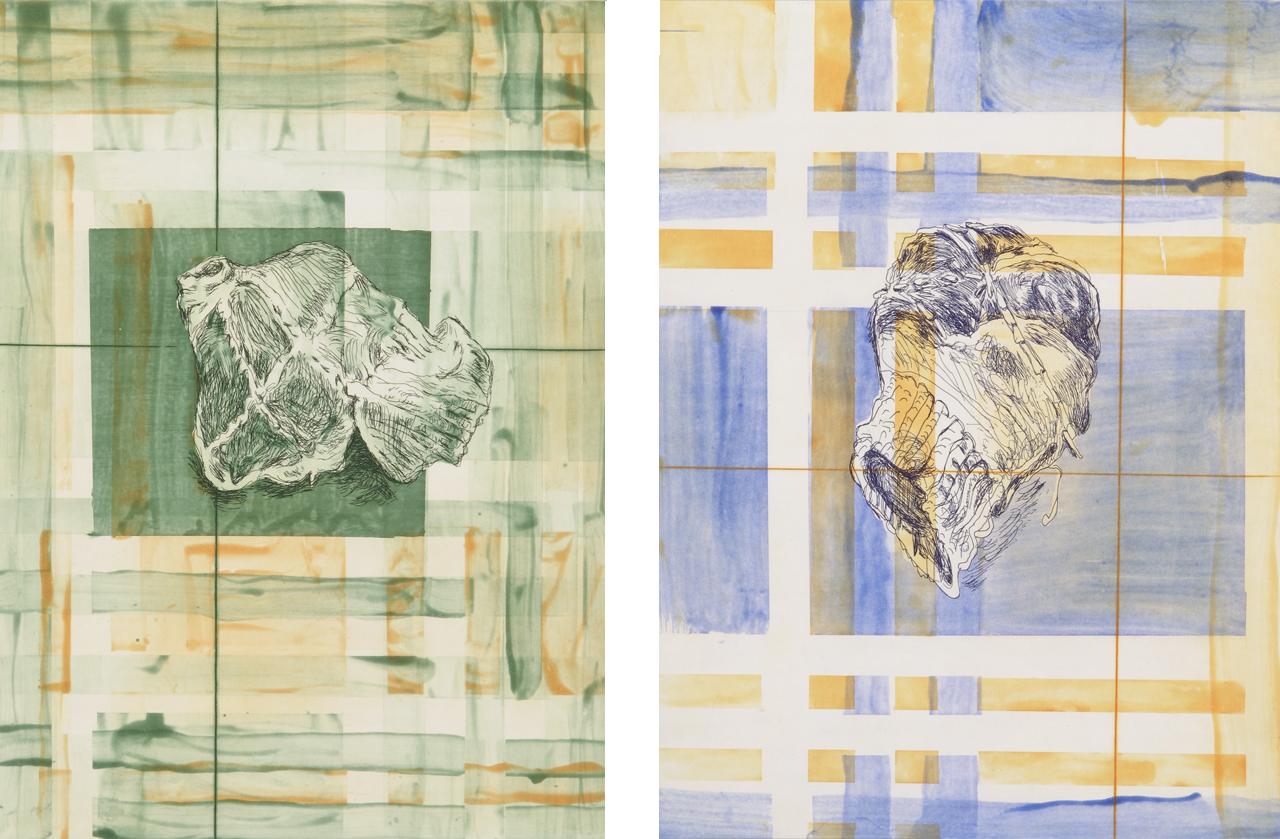 Martin Kippenberger, Burlington meets Burberries 1 & 2, 1996, Aquatint etchings