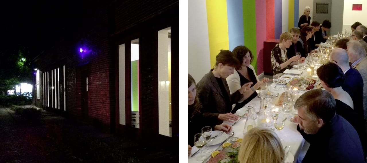 Opening night dinner at the Ars Multiplicata exhibition in 2014