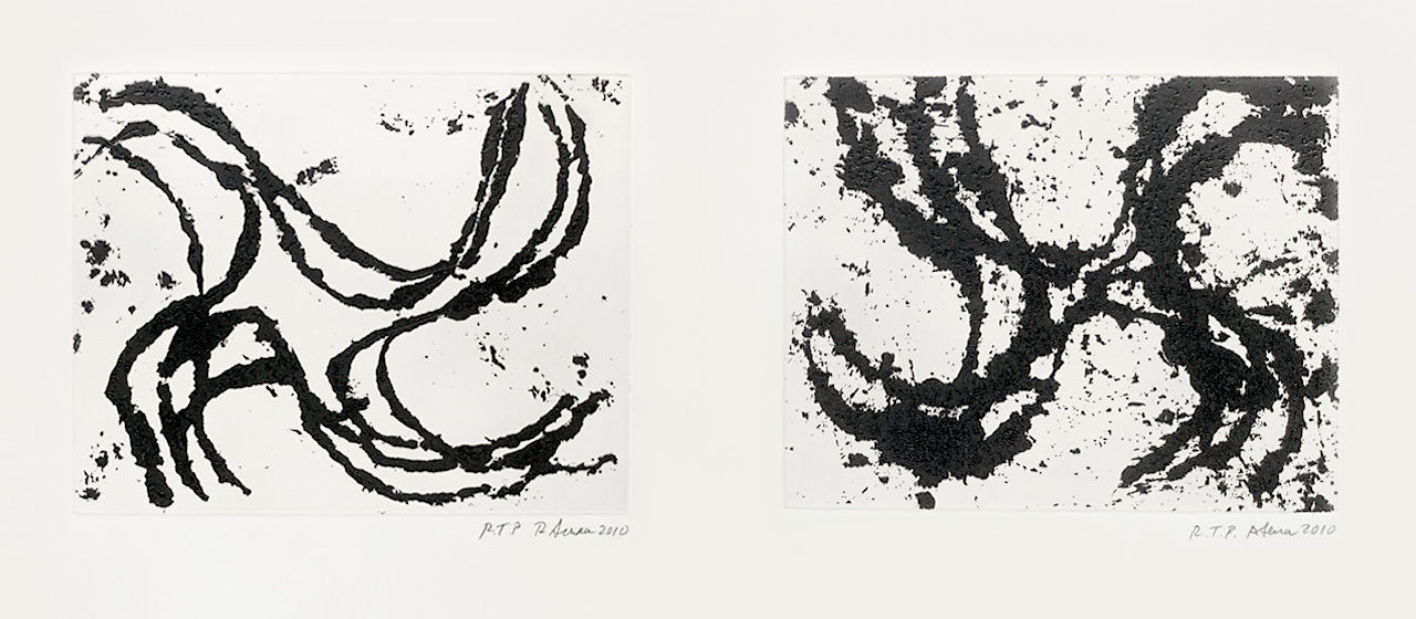 Richard Serra, Junction #7 & 9, 2010, Etchings
