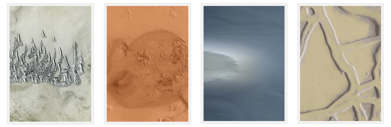 Thomas Ruff, ma.r.s, 2012, Four from a set of six C-prints