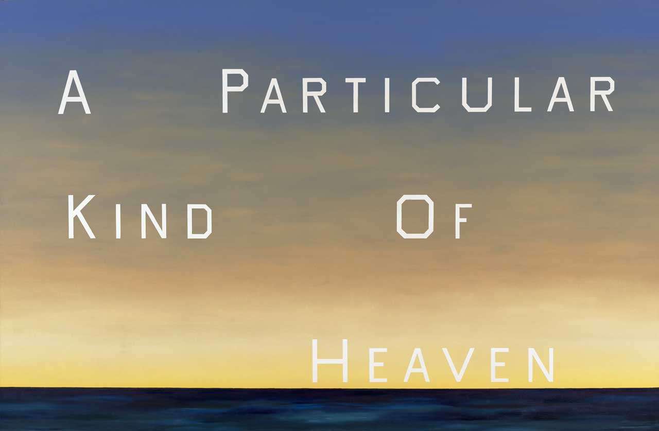 Ed Ruscha, A Particular Kind of Heaven, 1983, Oil on canvas