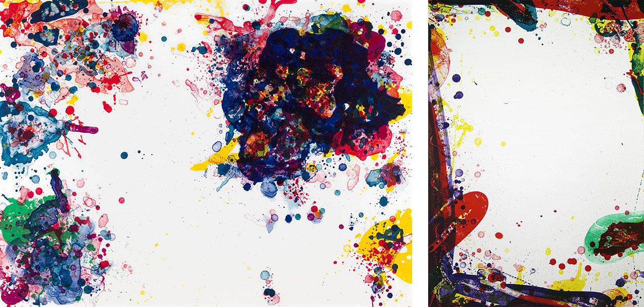 On the left Sam Francis, Speck, 1971, Lithograph and on the right Sam Francis, Seal Sail, 1969, Lithograph, 1964 Lithograph