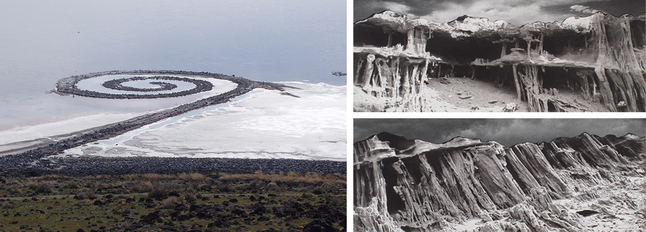 Robert Smithson, Spiral Jetty, 1970 and Tacita Dean, JG (offset), 2008, 2 of 14 offset lithographs