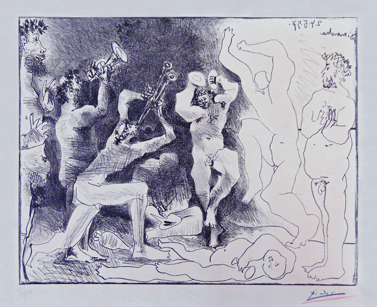 Pablo Picasso, The Dance of the Fauns (La Danse des Faunes), 1957, Lithograph
