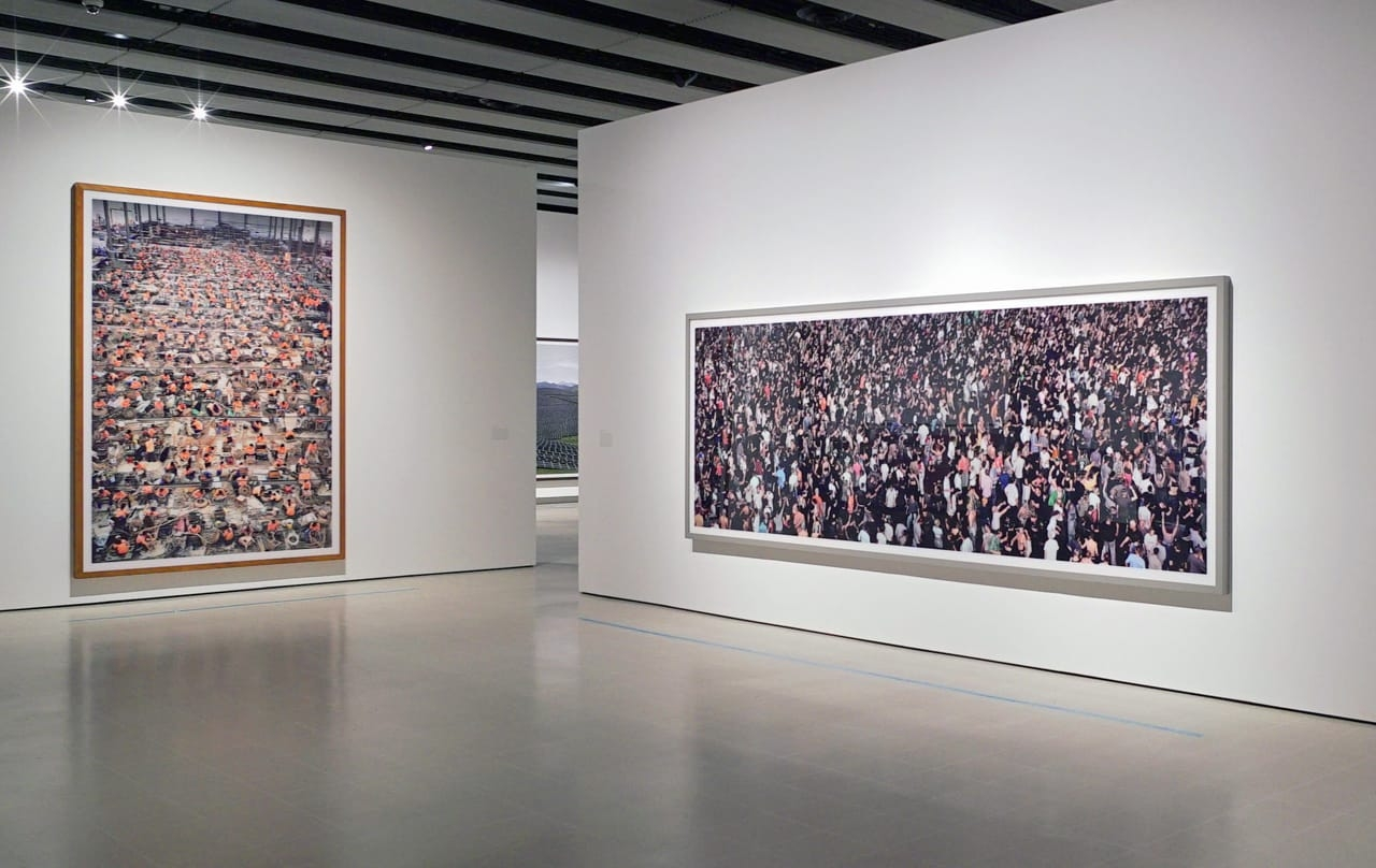 Installation shots from Andreas Gursky at the Hayward Gallery, London