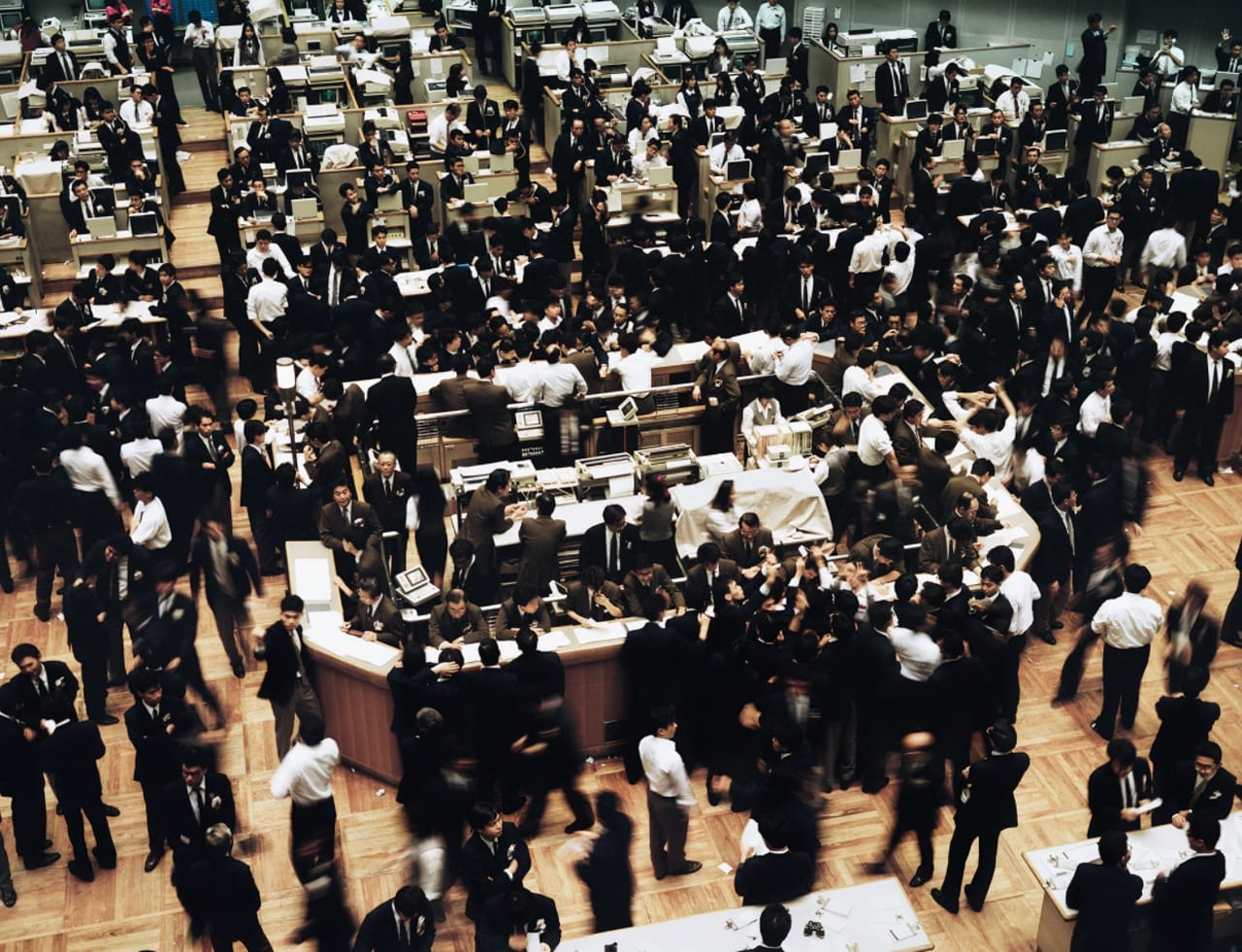 Andreas Gursky, Tokyo Stock Exchange, 1990