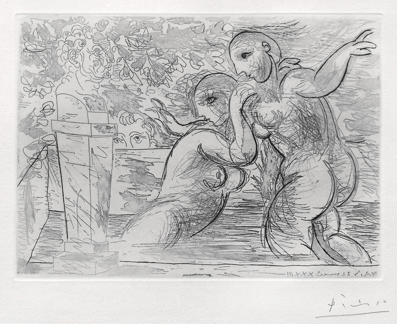 Pablo Picasso, The Surprised Bathing Women (Les Baigneuses Surprises), 1933, Etching