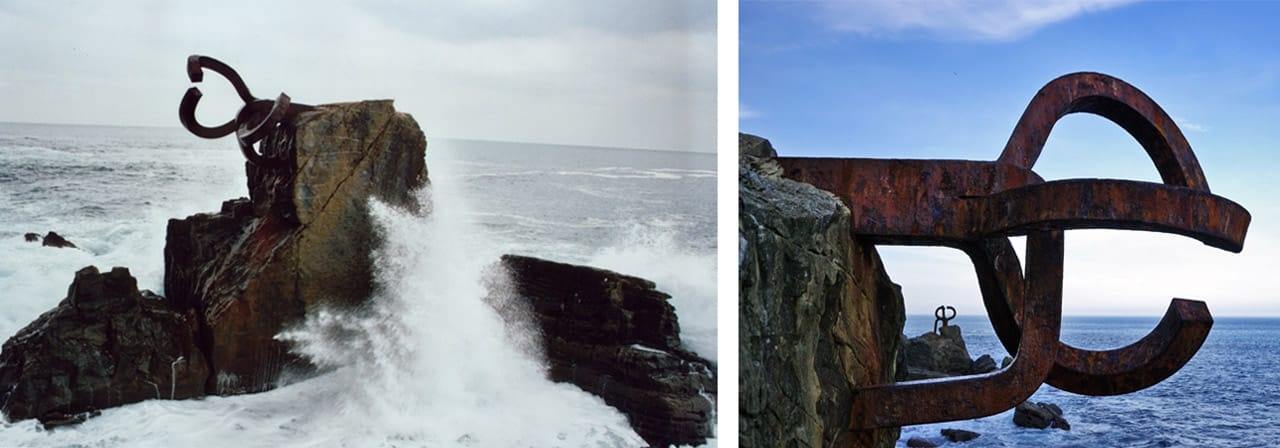 Eduardo Chillida, Peine del Viento, 1977, San Sebastián, Basque Country, Spain. Images: via Wikimedia Commons