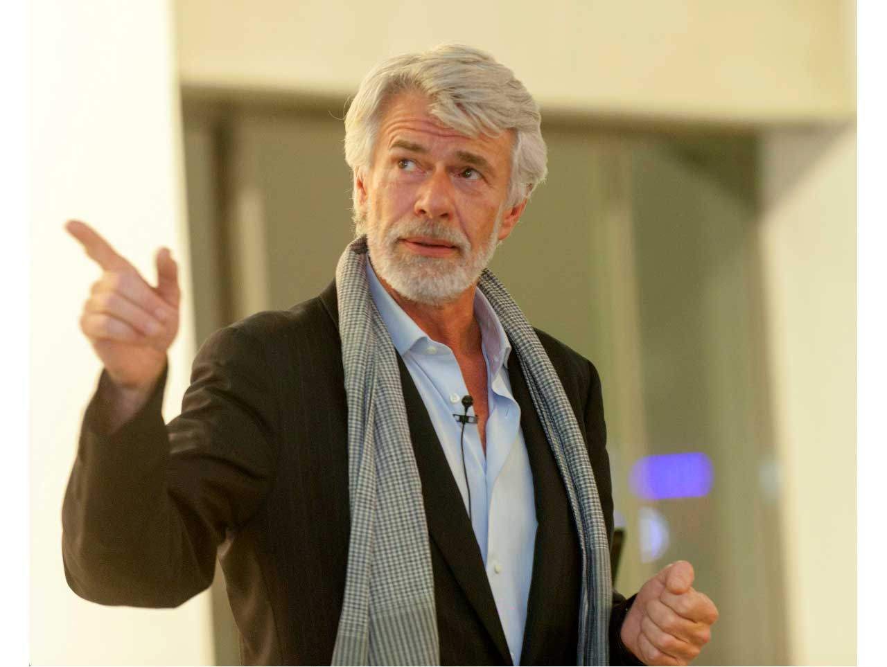 Chris Dercon speaking at Istanbul Modern Art Museum in 2015