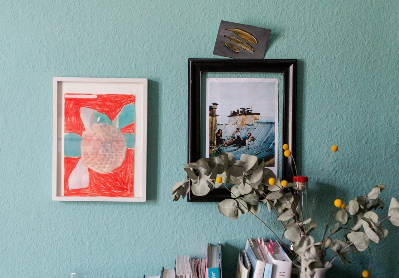 Artworks by Birgit Brenner and Regina Schneider.