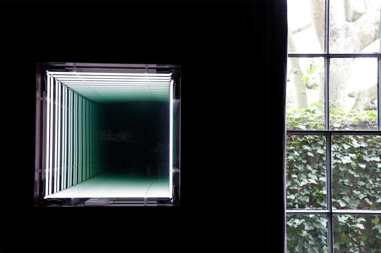 An Ivan Navarro lightbox work titled Delay. Image: @ Käthe Kroma