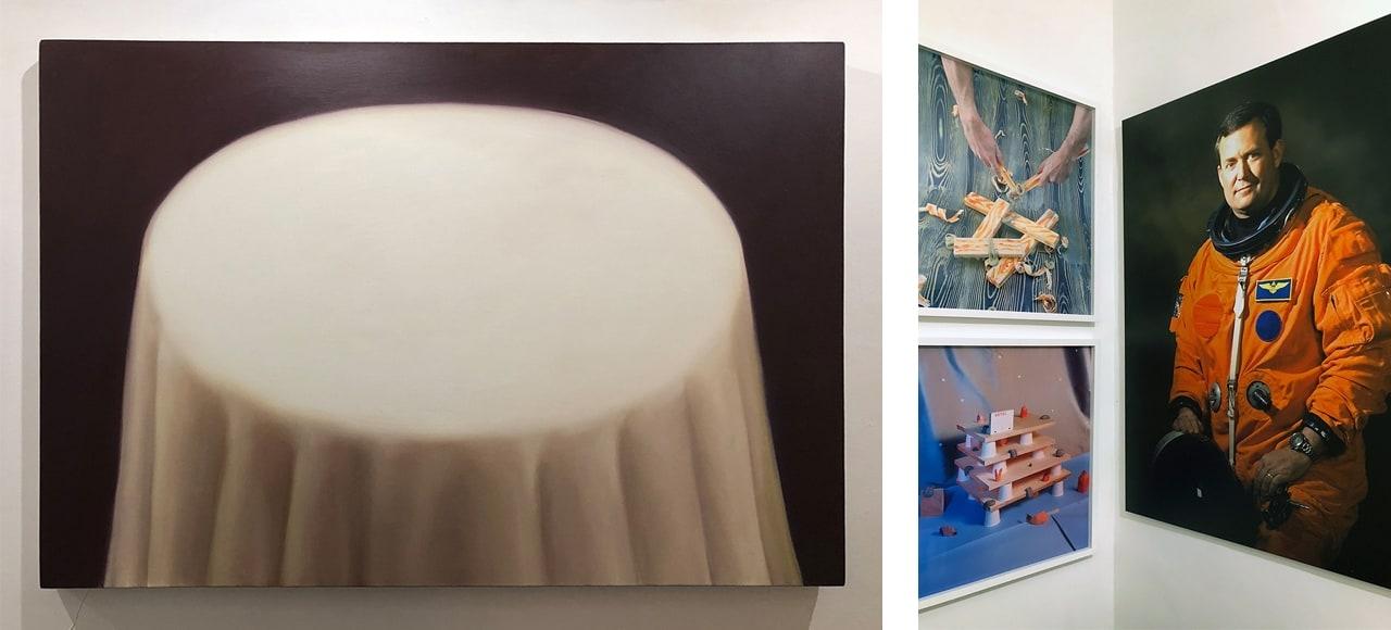 A selection of artworks by Matthew Draper, Jack Burton and John Lawrence.