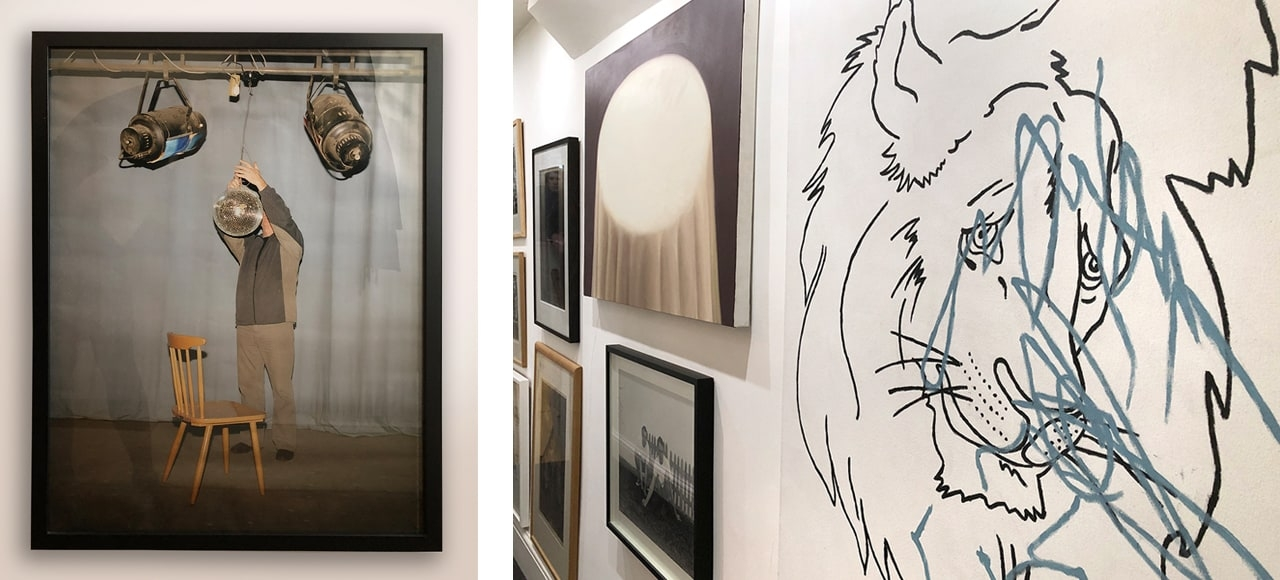 A selection of artworks by Lucia Nimcova, Andy Holden, Matthew Draper and Joanna Piotrowska.
