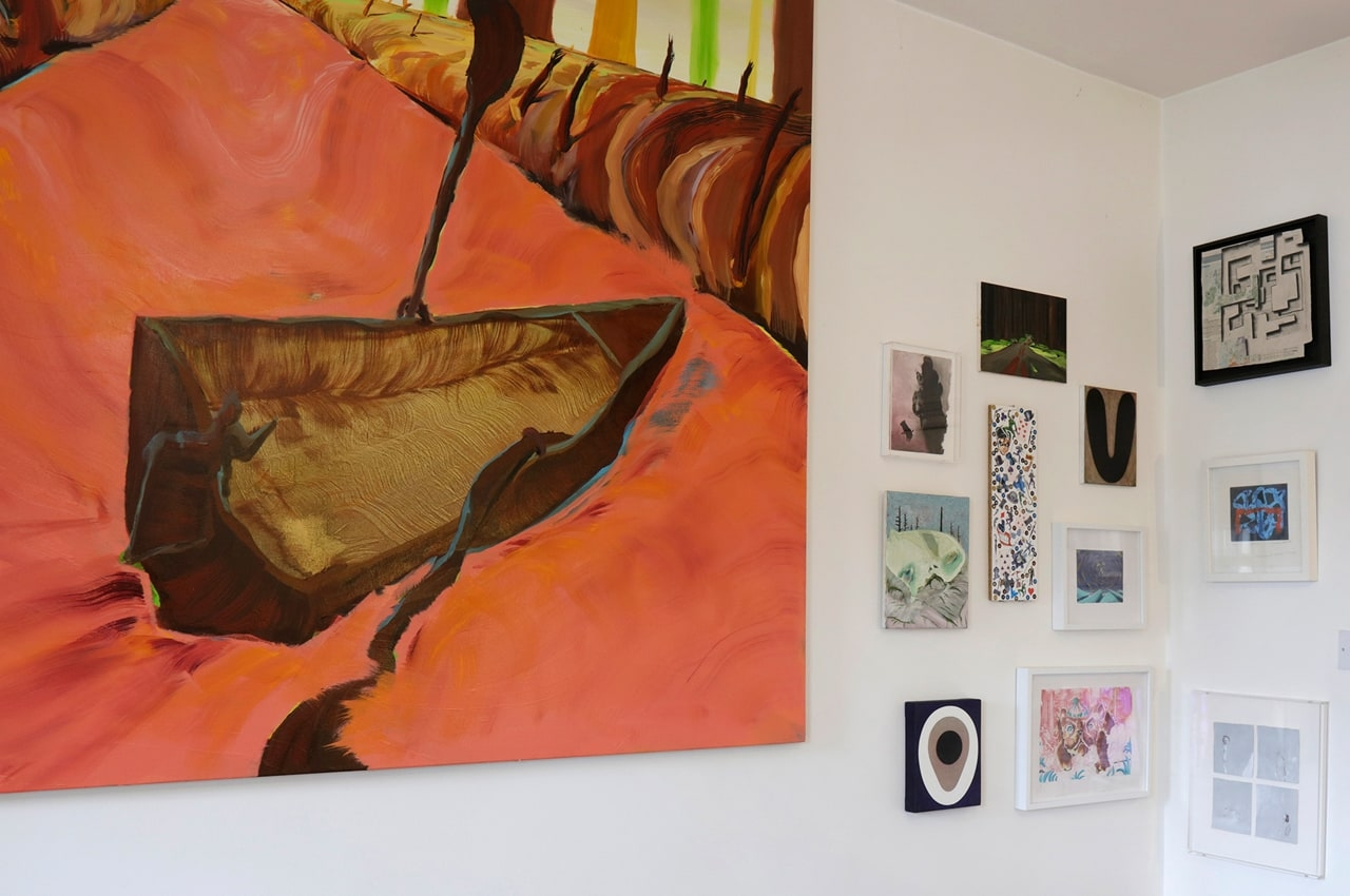 A selection of artworks by Michael O'Reilly, Edwina Ashton, Shaun McCracken, Maurice Cockrill, Andy Holden and Matthew Draper