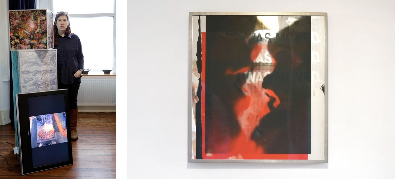 A selection of artworks by Adham Faramawy and Hannah Perry.