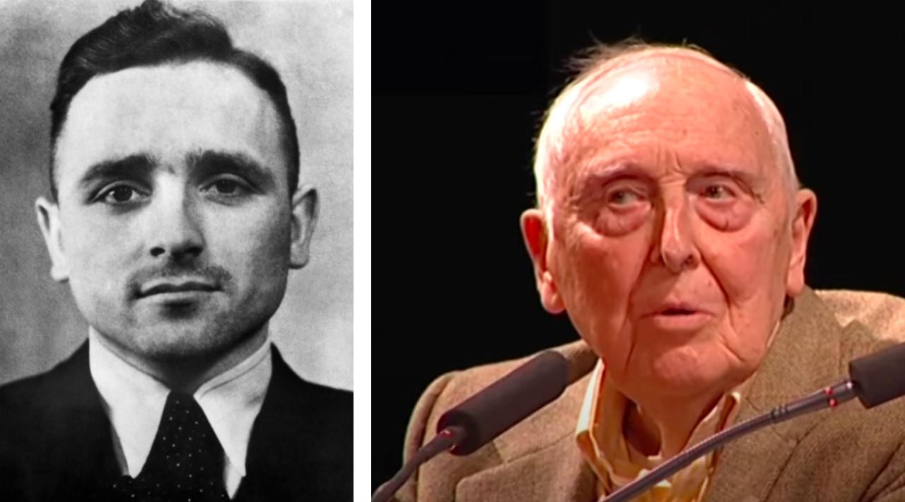 Left: Image of Klaus Barbie. Right: Daniel Cordier. Images via Wikimedia Commons