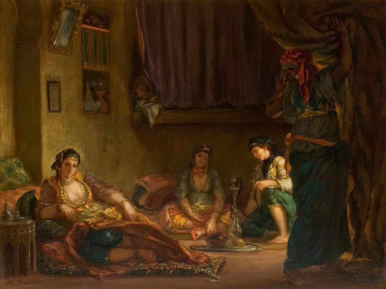 Eugene Delacroix, Femmes d'Alger dans leur Interieur, 1849. Musee Fabre de Montpellier Mediterranee Metropole / Frederic Jaulmes