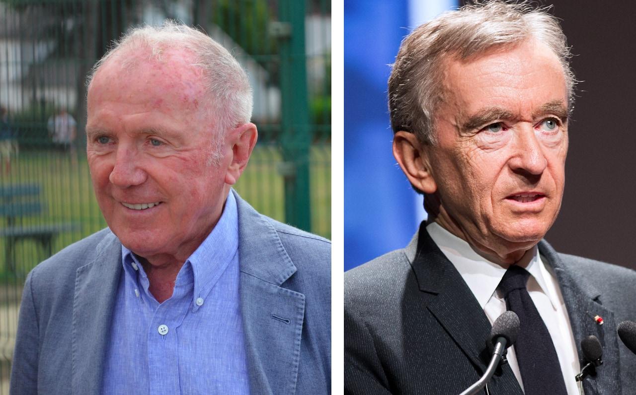 Left: Francois Pinault. Right: Bernard Arnault. Image: via Wikimedia Commons