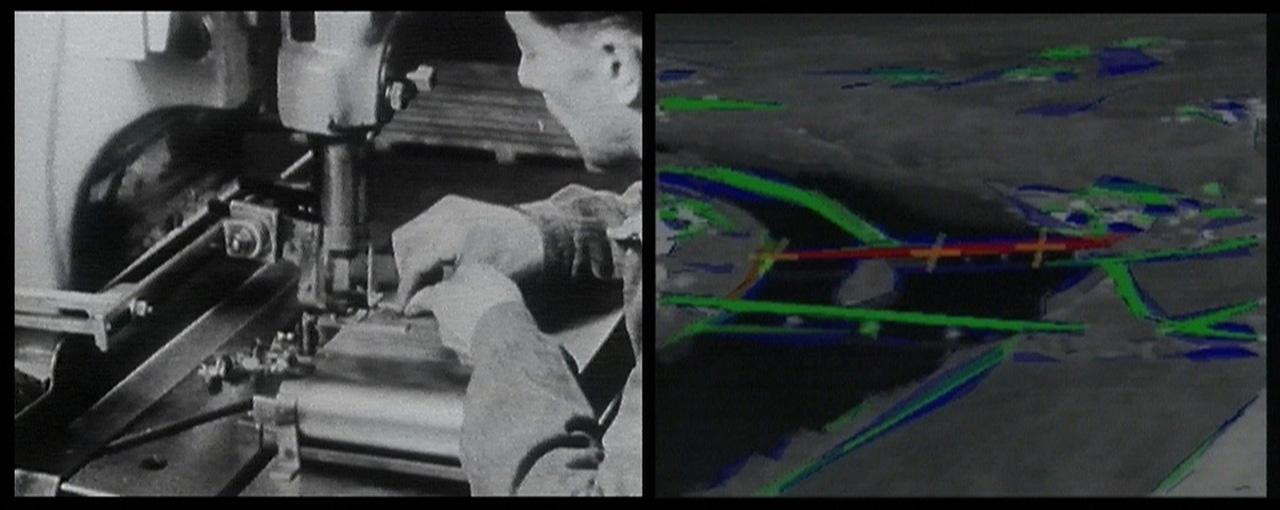 Harun Farocki, Eye/Machine I, 2001. Two-channel video installation. © 2019 Harun Farocki Filmproduktion