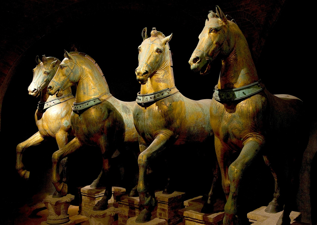 The Horses from Saint Mark at the Basilica di San Marco. Images: Wikimedia Commons