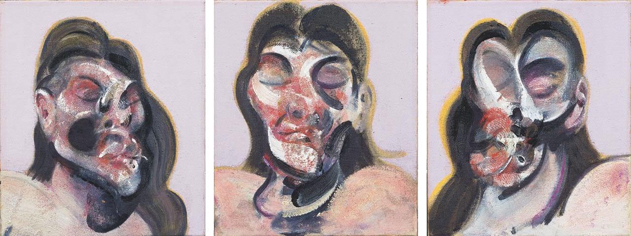 Francis Bacon, Three Studies of Henrietta Moraes, 1969. Courtesy of Ordovas Gallery, New York