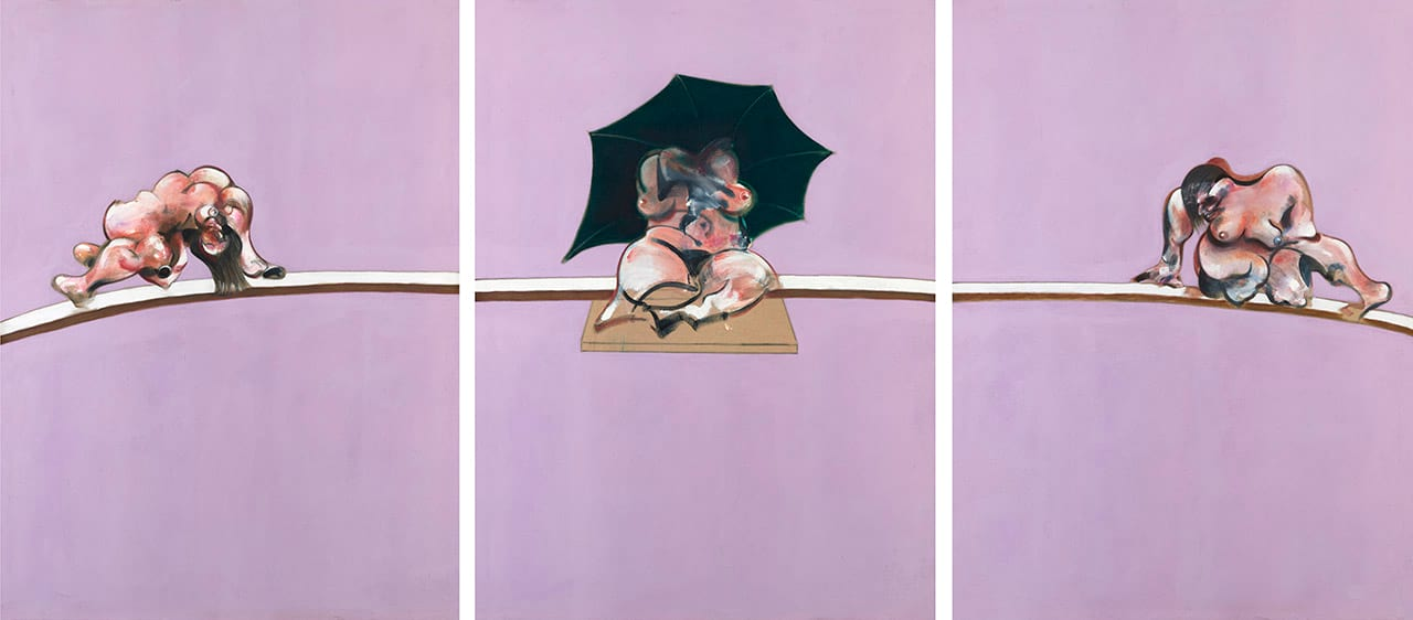 Francis Bacon, Triptych - Studies of the Human Body, 1970. Courtesy of Ordovas Gallery, New York