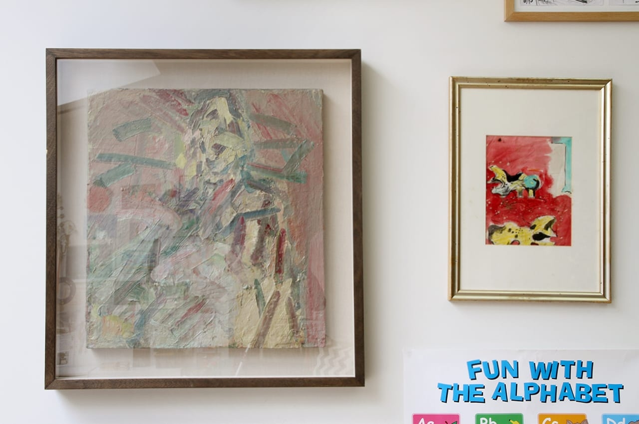 On the left, Frank Auerbach's Julie, on the right a work by Graham Sutherland. Image: © Käthe Kroma