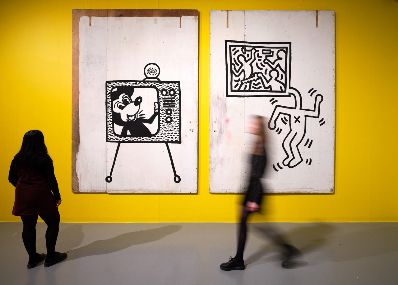 Installation view Keith Haring at Tate Liverpool, 2019. Image: © Mark McNulty