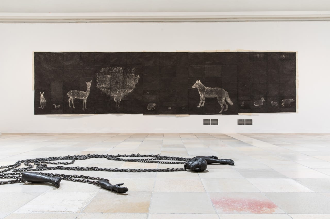 Installation view, Kiki Smith, Procession, Haus der Kunst, 2018