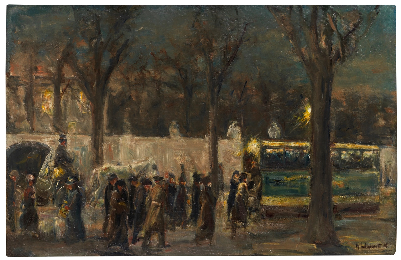 Max Liebermann, Straßenszene am Brandenburger Tor, 1916. From the Deutsche Bank Collection. Image: © Ketterer Kunst GmbH und Co. KG