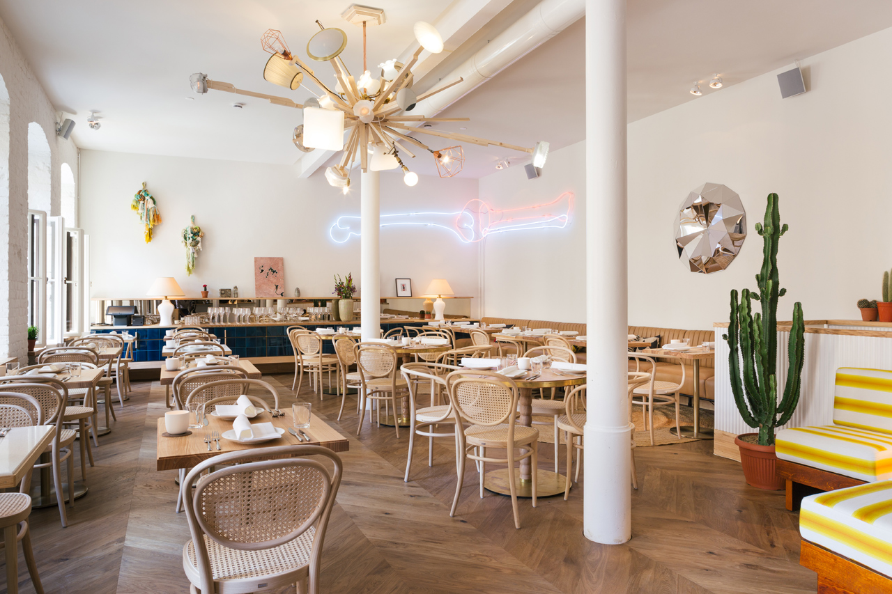 An interior view of Panama, Ludwig's recently opened restaurant