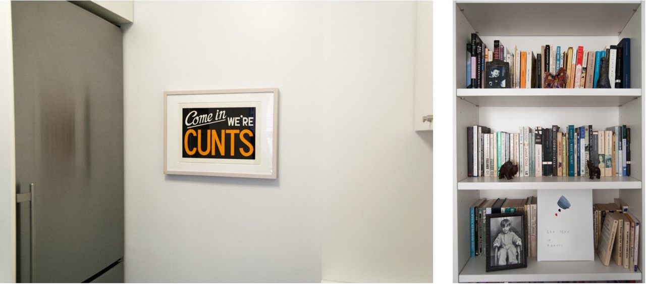 Left: Beside the fridge a work by Adam McEwen. Right: Lee Ufan in France by Anne-Lise Coste. Image: © Linda Green
