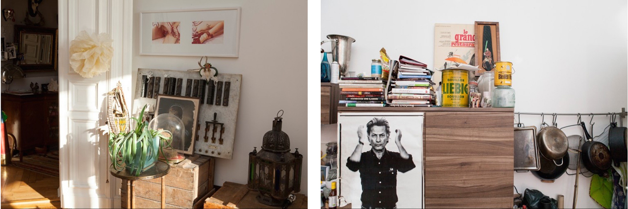 On the right a Richard Avedon portrait
