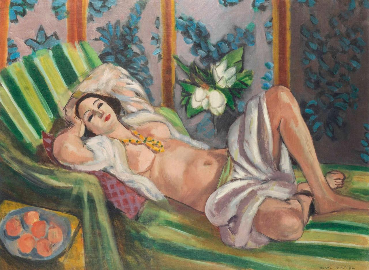 Henri Matisse, Odalisque couchée aux magnolias, 1923.