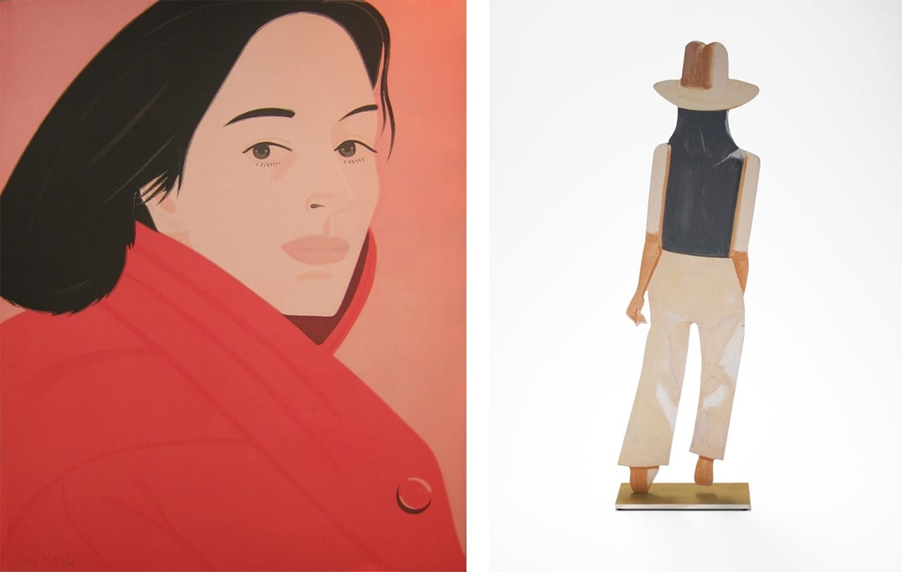 Left: Alex Katz, Brisk Day I, 1990. Courtesy of Marlborough Graphics and fineartmultiple, available to buy on fineartmultiple. Right: Alex Katz, Departure (Ada), 2017. Courtesy of Galerie Frank Fluegel and fineartmultiple, available to buy on fineartmultiple