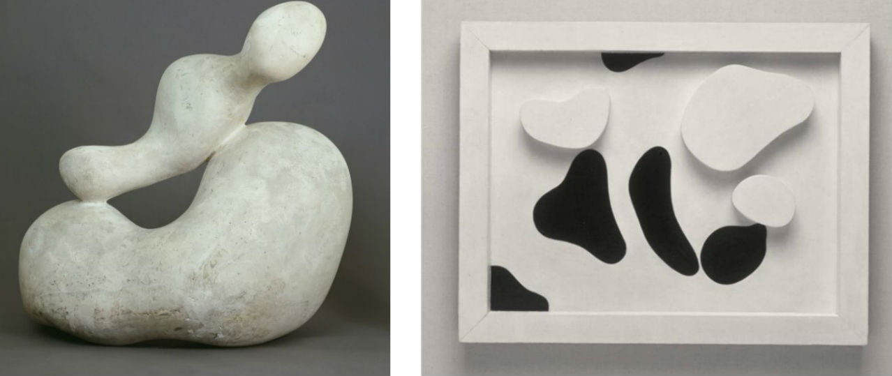 Left: Hans Arp, Human Concretion, 1933. Right: Hans Arp, Constellation According to the Laws of Chance, 1930. Images: via wikiart.org