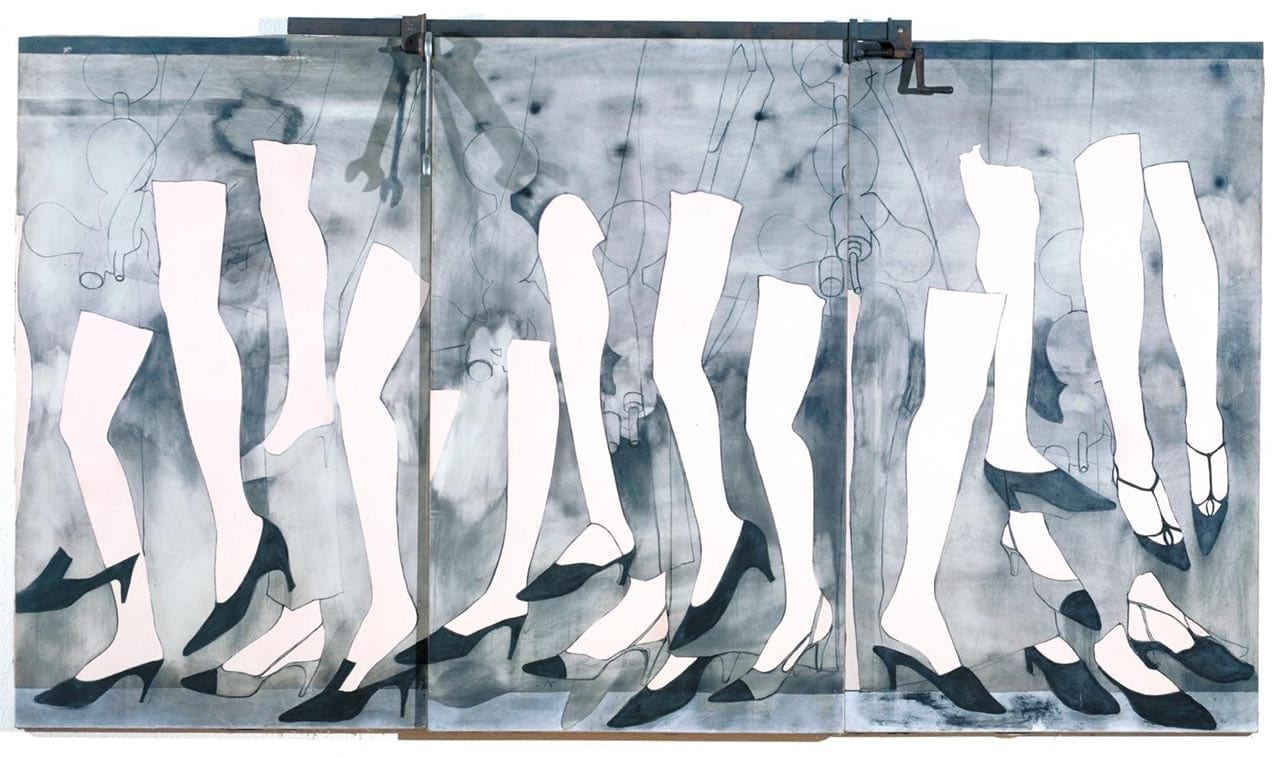 Jim Dine, Walking Dream with a Four Foot Clamp, 1965. Image: via wikiart.org