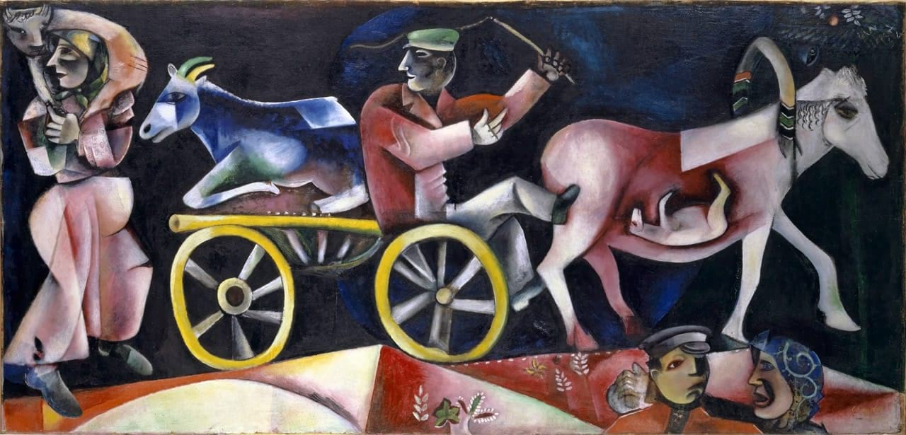 Marc Chagall, The Cattle Dealer (Le marchand de bestiaux), 1912. Courtesy of 