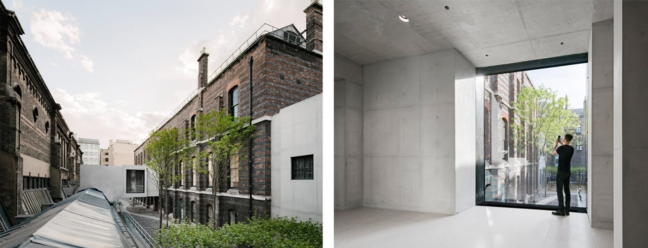 Left: Weston Bridge and The Lovelace Courtyard at the Royal Academy. Right: Weston Bridge. Images: Simon Menges. © Simon Menges