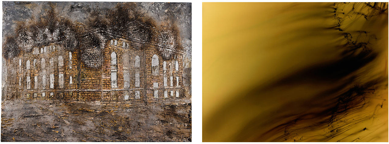 On the left Anselm Kiefer, Athanor, 1991 and on the right Wolfgang Tillmans, Freischwimmer 119, 2005