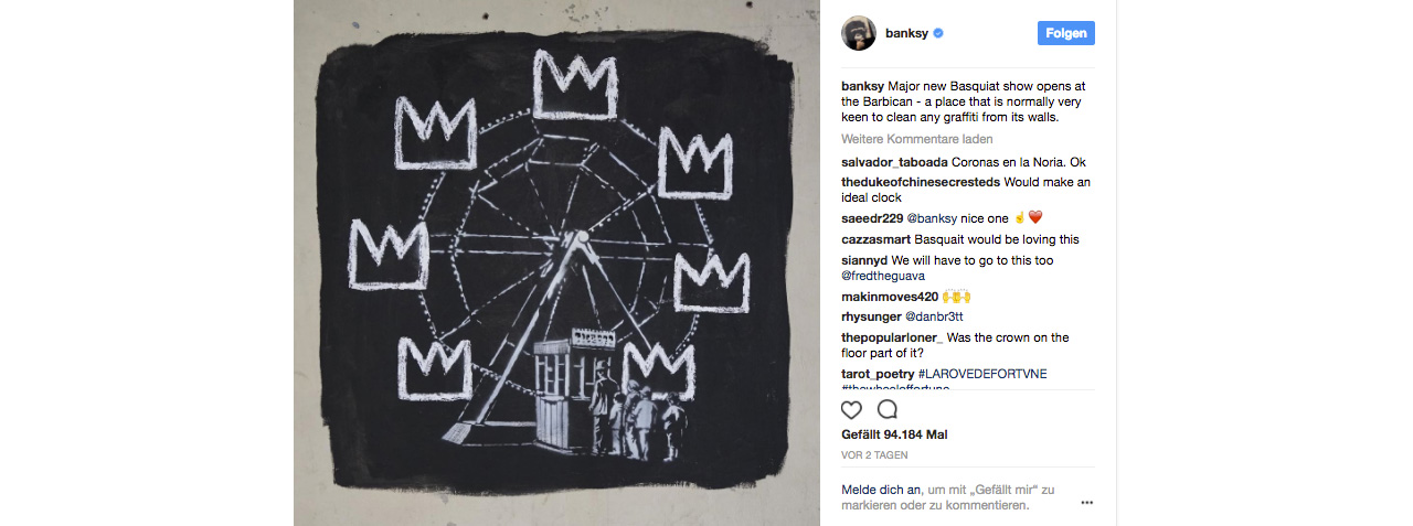 Banksy's Unofficial Collaboration with Jean-Michel Basquiat