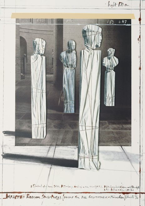 Christo, Wrapped Roman Sculptures, 1991, collotype