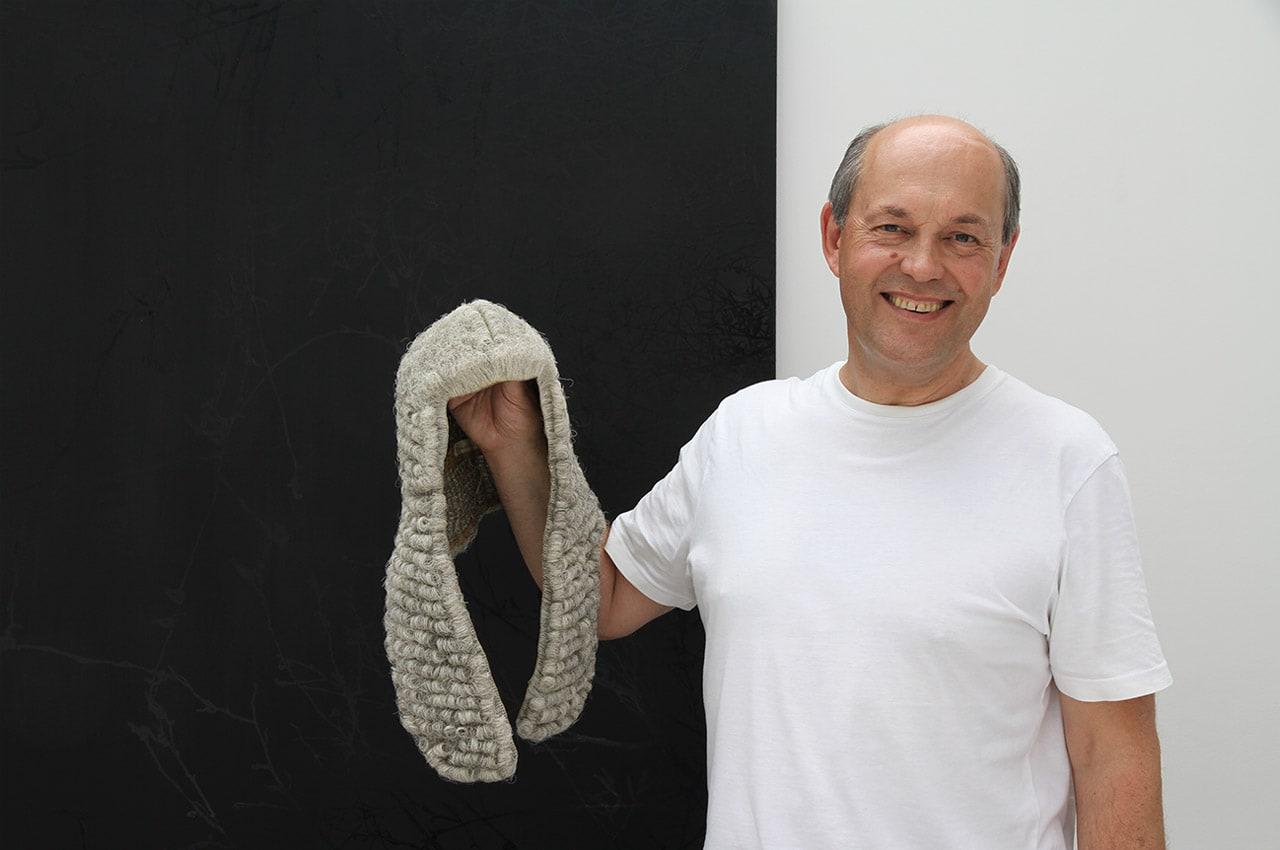 Brendan with his Judge's wig