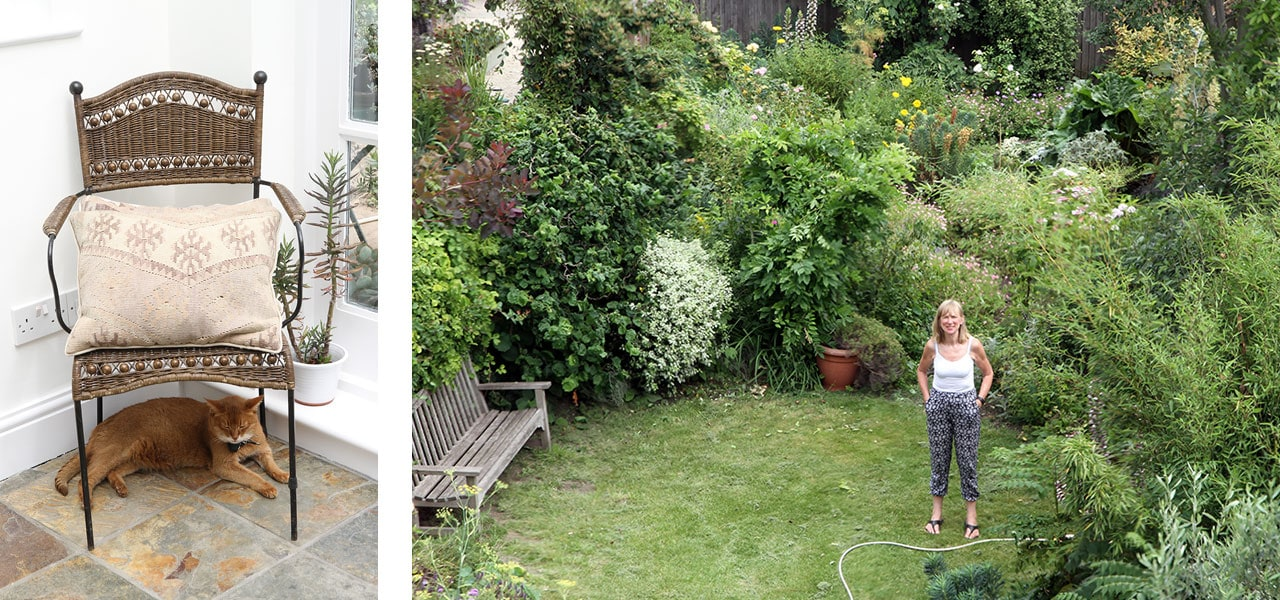 Fiona in the garden