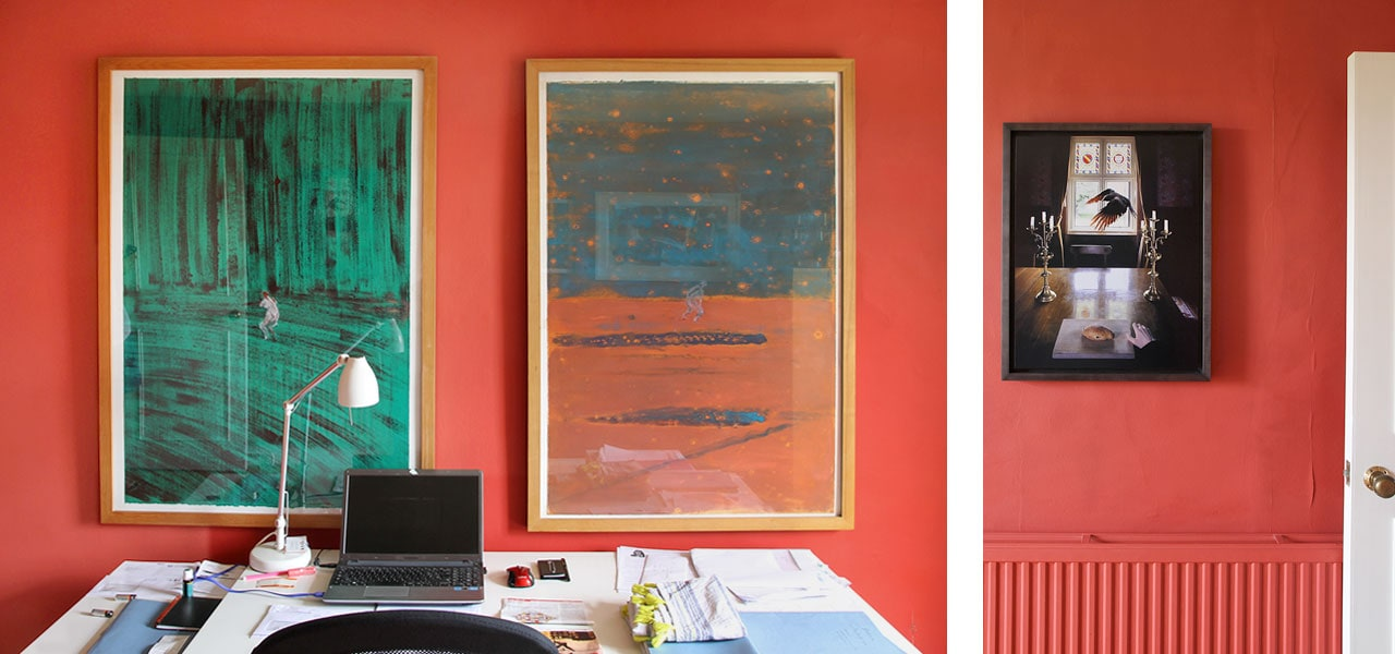 On the left Anthony Zych, Untitled (two works), 1985, and on the right Liane Lang, Benedict