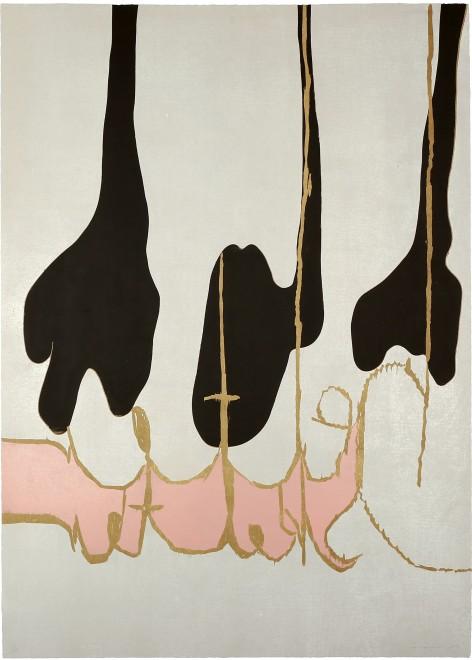 Magne Furuholmen,Helter Skelter, 2013, woodcut print